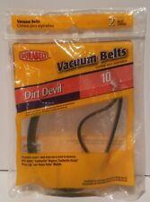 Durabelt Vacuum Replacement Belts Dirt Devil 67010 (2 Pack) New Factory Sealed