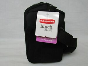 Rubbermaid Lunch Blox Soft Lunch Bag, Medium, Black Etch, Insulated NEW