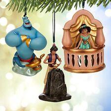 Disney Store Art of Jasmine Ornament Set Limited Edition of 1000 Aladdin Genie