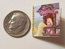Miniature dollhouse Disney Princess book Barbie 1/12 Scale Tangled  Rapunzel