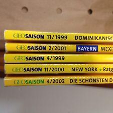 Bücherpaket Sammlung Geo Saison Das Reisemagazin 5 Hefte 1999-2002
