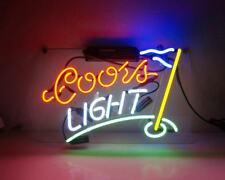 "New Coors Light Golf Beer Pub Acrylic Neon Light Sign 14""x10"""