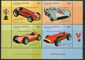 (2001). GJ.3153-6. Racing cars. 4-stamp set.MNH. Excellent condition