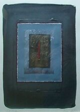 HAROLD JACOBS b 1932 NYC MIXED MEDIA STITCHED COLLAGE PAFA WHITNEY MID CENTURY