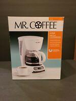 Mr. Coffee 4-Cup Switch Coffee Maker, White - TF4-RB Coffee Machine
