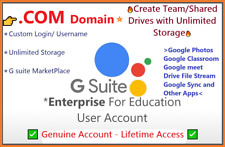 Gsuite Enterprise -Custom Login✅Google Apps,Create Team Drives⭐Unlimited Storage