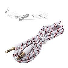3.5mm Stecker auf Stecker AUX Auxiliary Geflochtene Kabel Stereo Audio Adapter