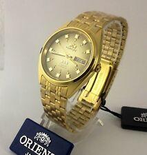 Reloj  De Hombre Orient Automatic Watch Men Gold Tone  Brown  Dial Box