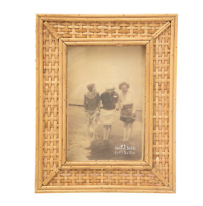 """Sass & Belle - Hand Crafted Rattan Photo Frame 6x4"""" Picture"""