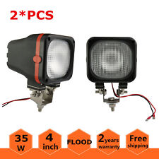 2X 4inch 35W HID Xenon Work Light Flood Off-road 4WD Truck SUV Boat 6000K 12V