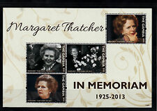 The Gambia 2013 MNH Margaret Thatcher In Memoriam 4v M/S Death People