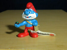Smurfs Papa Smurf Bag Movie Figure Schleich Vintage Toy PVC Figurine Lot 20729