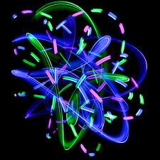 GloFX Team 6-LED Orbit: Pure Bliss - Rave Party Fashion Glow In Dark Orbital