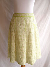 Ann Taylor 4 Victorian Inspired 100% Silk Pleated Delicate Spring Floral Skirt