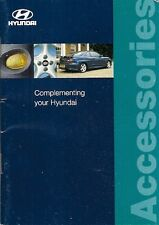Hyundai Accessories 1998-99 UK Market Brochure Atoz Accent Lantra Coupe Sonata