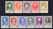 (101) Bélgica 1952 UPU (retratos) establecido en 20f. SG1398-1408 LM/Menta Gato £ 190