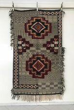 "Moroccan Berber Picasso Rug Carpet - Tribal Design - Black & White - 7'3"" x 4'6"""
