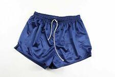 Vintage 80s New Ricks Mens Large Silky Polyester Running Soccer Shorts Blue Usa