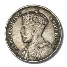 New Zealand King George V Silver Half Crown 1934  Extra Fine KM-5