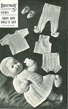 Vintage Doll Knitting Pattern 40cm copy Many Items Knitted in 3 Ply GORGEOUS Set