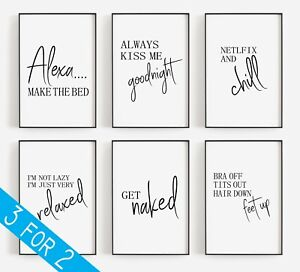 Home Prints Get Naked Funny Quotes Wall Art Modern Wall Art Poster Living Room