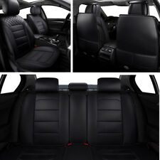 Luxury Durable PU leather 5Seat Car Seat Covers Protector Cushion Mat All Season