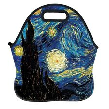 Waterproof Adult Kids Lunch Tote Lunchbox Bento Boxes Carry Bag The Starry Night