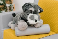 XXL LARGE 70CM WILD REPUBLIC SCHNAUZER DOG CUDDLY SOFT TOY PUPPY STUFFED TEDDY