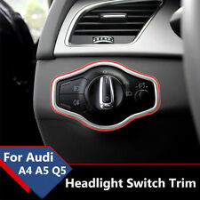 Chrome Auto Headlight Switch Button Cover Trim Frame For Audi A4 S4 A5 S5 Q5 B8