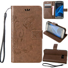 Heavy Duty Leather Slim Wallet Card Case Stand Flip Cover For Samsung Galaxy E5