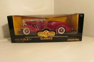 Ertl 1/18 1935 Auburn 851 Boat Tail Speedster American Muscle Classics NIB