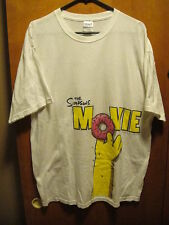 THE SIMPSONS MOVIE ~ Homer Holding a DONUT ~ PROMO T Shirt XL White