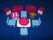 LEGO DUPLO PUPPENHAUS KÜCHE PINK MÖBEL Spüle Herd Tisch Stühle Schrank Torte
