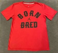 Michael Jordan Born & Bred T-Shirt Men'S Small S Red Nike Air Basketball Mens
