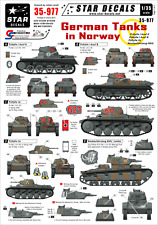 Star Decals, 35-977, Decal for German Tanks in Norway 1940, 1:35
