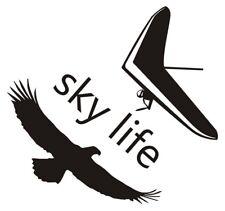 Sky Life Hang Gliding Pilot Eagle Sport Decals Stickers Emblem Vinyl Die Cut