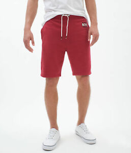 aeropostale mens aero nyc 1987 fleece shorts