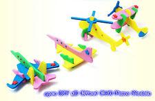 4pcs DIY 3D Effect EVA Plane Model Kids Crafts Boys Toys Mess-Free