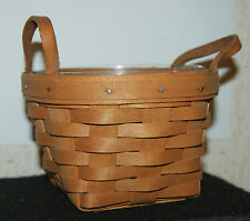 Longaberger 1991 Small Basket with Protector Insert
