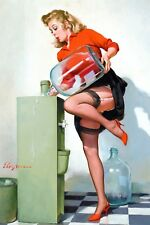 Pin-Up Refreshing Lift Gil Elvgren High Quality Metal Magnet 2.7 x 4 inches 9650