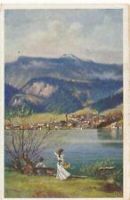 AK aus St.Gilgen am Abersee, Salzburg  (R2)