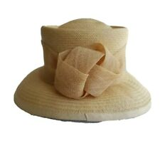 Mother Of The Bride Beige Special Occasion 100% Fibre Hat.Weddings, Ascot Races