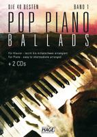 Pop Piano Ballads 1 (mit 2 CDs) - für Klavier - leicht bis mittelschwer