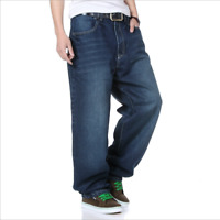 US Mens Denim Jeans HIP HOP Loose Baggy Denim Jeans Capri Pants Relaxed Causal