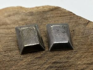 VINTAGE 60's Signed CARLO MEXICO MODERNIST STERLING Clips EARRINGS