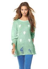 Mehrfarbige hüftlange Damen-Pullover & -Strickware mit S