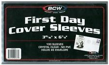 600 BCW Crystal Clear Cover Sleeves Hold # 6 Envelopes Free Priority Shipping US