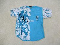 VINTAGE North Carolina Tar Heels Shirt Adult Small Blue Basketball Mens 90s B99*