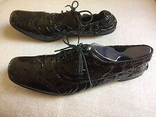 Miu Miu Loafers Wingtip Oxfords Black Patent Leather Brogues Sz 39 1/2 US 9 1/2