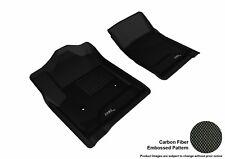 Fits 2014-2018 Chevrolet Gmc ROW 1 KAGU Carbon Pattern Black Customize Floor Mat